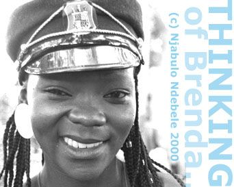 'THINKING OF BRENDA' article by Njabulo Ndebele. pic &copy Steve Gordon 1985