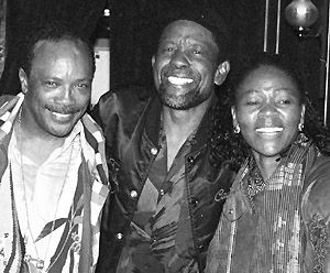 Caiphus (centre) with Quincy Jones and Letta Mbulu © S.Gordon