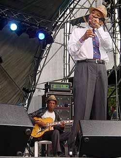 Hilton as part of the District Six Band,with Mac McKenzie (seated).
