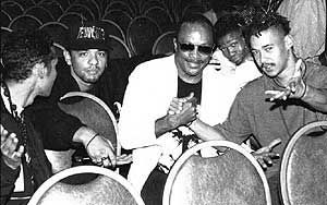 DJ Reddy D,with P.O.C. and Quincy Jones