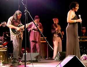 Condry on stage with Caiphus Semenya,